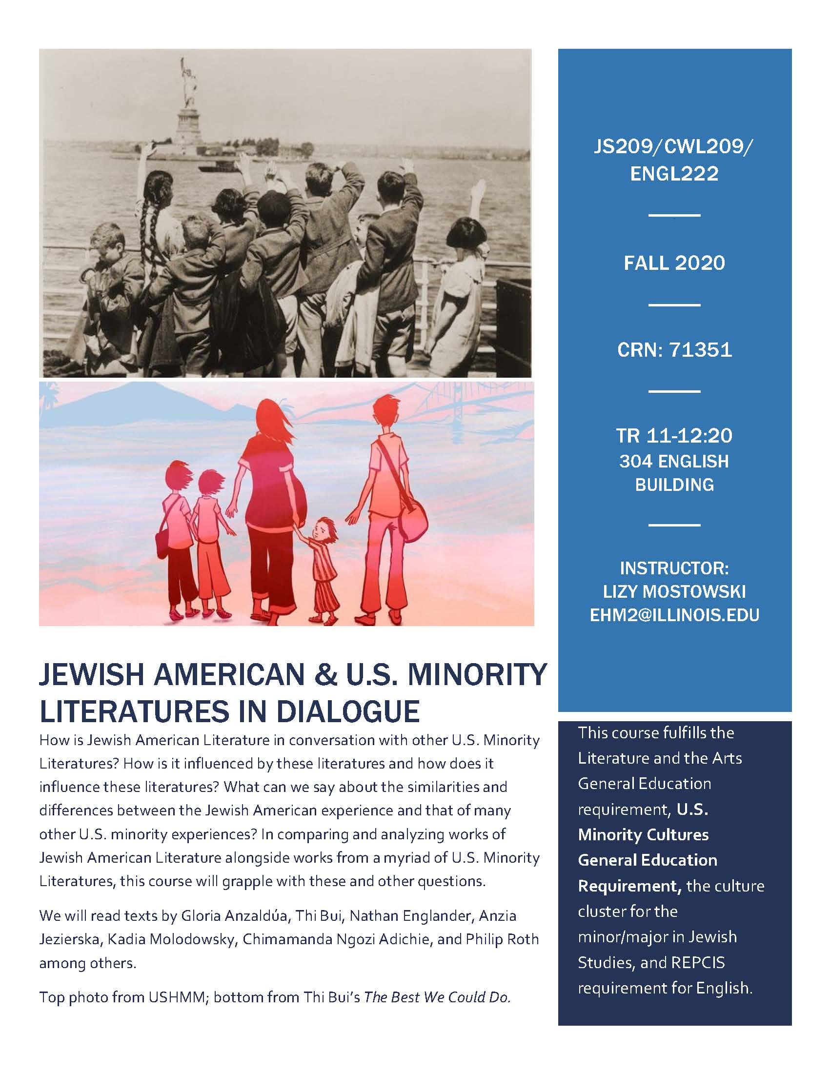 JS 209 Fall Course Flyer